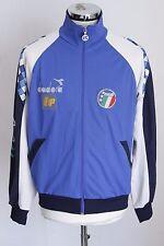 DIADORA IP ITALIA 90 FIGC L vintage zip jacket track top felpa tuta E4229