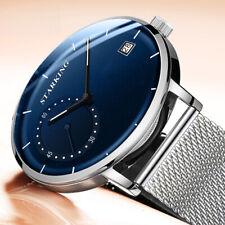 New Luxury Men's Quartz Analog Stainless Steel Band Wrist Watches Men
