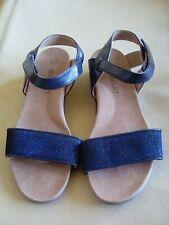 ladies damart sandles,ankle fasten,blue,summer,holidays,see pics,size 6