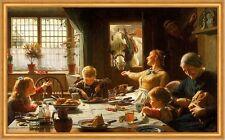 One of the family Frederick George COTMAN cavalli banchetto tavolo da pranzo bambini B a2 01949