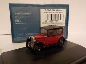 Model Cars. Austin Seven, Maroon, Oxford Diecast 1/76 New Dublo, Railway Scale