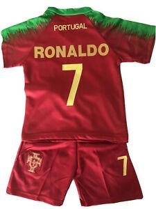 nouveau MAILLOT FOOT portugal euro 2020 ronaldo 4/6/10/12/14 ANS neuf