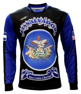 Men's Jersey El Salvador Arza Design Long Sleeve color Black