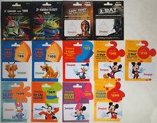 13 Different DISNEYLAND Passport Disney Gift Cards 2012: Star Wars/Tours, Buzz++