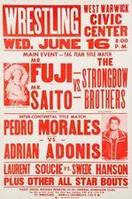 MR FUJI MR SAITO vs STRONGBOW 8X10 POSTER PHOTO WRESTLING PICTURE PEDRO MORALES