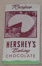 Hershey's Baking Chocolate Cream Pie Cookies Cake Dessert Recipe Pamphlet AD