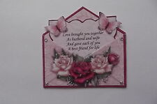 PACK 2 HAPPY ANNIVERSARY ENVELOPE TOPPER EMBELLISHMENTS FOR CARDS OR CRAFTS