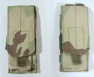 2 X NEW DESERT DCU MOLLE SINGLE MAG POUCH--AIRSOFT