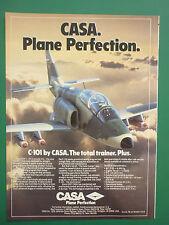 1986 PUB AVION CASA C-101 TRAINER COMBAT SPANISH AIRCRAFT ORIGINAL AD