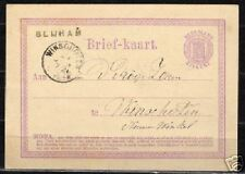 Netherlands 1872 imp PC BLIJHAM to Winschoten  VF