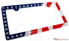 American USA Flag License Plate Frame for Auto-Car-Truck-SUV Front or Rear Back