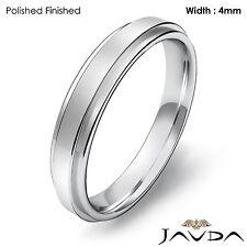 Wedding Band Women Comfort Fit Plain Flat Ring 4mm Platinum 950 6.1gm Sz 6-6.75
