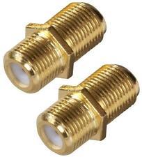 NEW ZENITH VA1002RG6FT PACK (2) GOLD FEED THRU TV COAX CABLE CONNECTORS 6317192