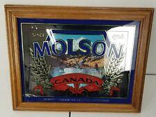 "Vintage MOLSON ALE CANADIAN BEER Mirror Bar Liquor Man Cave Sign 16"" x 20"""
