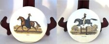 Richard's Group Equestrian Round Tiles Set of 2 TROT & LEAPING Vintage England