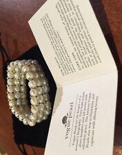 High Quality Coca Island Vogue Pearl Rhodium Plated Fresh Water Pearl Bracelet +