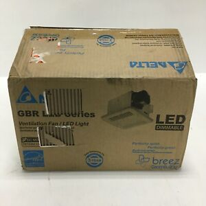 Delta Bathroom Exhaust Vent Fan 100 CFM Cailing Dimmable LED Light GBR100LED