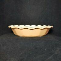 Emile Henry William Sonoma Apricot Ruffle Quiche Pie Plate Dish 10.3 Baking Dish