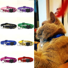 1PC Pet Puppy Safety Collar Dog Adjustable Buckle Bell Head Cat Gifts Sequin