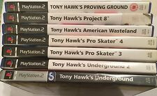 7 PS2 TONY HAWK'S COLLECTION UNDERGROUND PRO SKATER PROJECT 8 WASTELAND PROVING