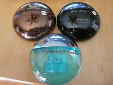 LOT OF 3 TESTERS Bulgari Aqva Pour Homme,Pour Homme Marine,and Aqua Amara.3.4oz