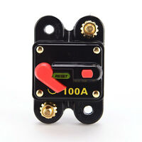 CIRCUIT BREAKER 100 AMP 12V 24V DUAL BATTERY MANUAL RESET SWITCH -32°C to 82°C