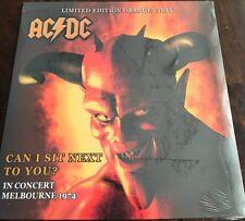 AC/DC CAN I SIT NEXT TO YOU 12/31/74 MELBOURNE ORANGE COLORED VINYL LP IMPORT