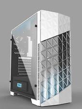 Gamer Gaming Tower Gehäuse AZZA Onyx 260 Weiß LED-Lüfter USB 3.0 - NEU  TOPP