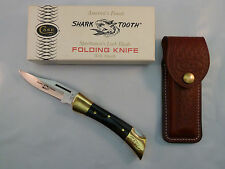 CASE XX P197 LSSP Shark Tooth Knife Lockback 9 Dot 1981 w/ Sheath, Box, Papers