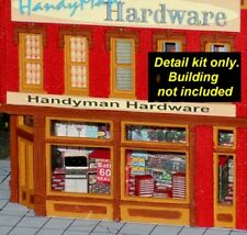 HO Scale Detail Kits for Stores (Gas Station, Hardware & Convenience)