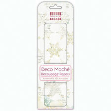 FIRST EDITION CHRISTMAS  DECO MACHE DECOUPAGE PAPERS - DISTRESSED SNOWFLAKES