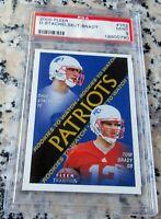 TOM BRADY 2000 Fleer Rookie Card RC PSA 9 Patriots 7 Superbowl Rings MVP Bucs $$