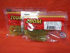 ZOOM Salty Super Fluke (10cnt) #023-118 Chartreuse PEP/Red  (2 PCKS)