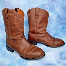 Ariat Heritage Roper Cowboy Boots Distressed Leather 35525 Men's 9.5 EE Wide