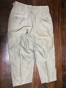 vintage original WW2 US Army M43 field pants. BIG Name.