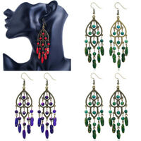 Womens Acrylic Earring Eardrop Tassels Retro Alloy Gift Jewelry Drop Dangle