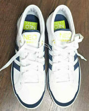 Adidas NEO Label Us Size 7 Mens white Navy blue Low Top Shoes