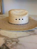 Atwood Flexible Straw Cowboy Hat Marfia Cattleman 6 7/8 Long Oval