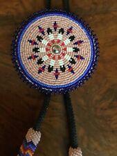 Native American Kiowa Beadwork Bolo Tie