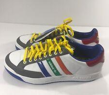 ADIDAS Men's White Nastase Leather Tennis Shoes Multi-color Mod  018472 Size 11