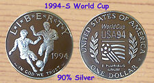1994-S  Proof World Cup Dollar [$1] Commemorative Proof 90% Silver In Capsule