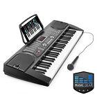 OPEN BOX - 61 Key Electronic Piano Electric Organ Keyboard w/ Microphone - Black