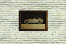 Car Wood Picture With Lamborghini Urus 3D Image Frame Home Office Wall Decor
