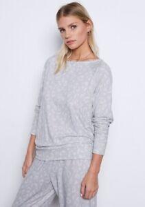 NWT Tart 2Pc Sienna Jogger Pant Pajama Set SNOW LEOPARD GRAY WHITE Sz L LARGE
