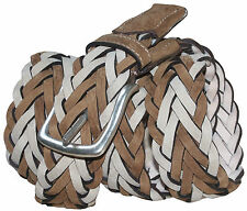 PAUL SMITH VINTAGE STYLE BRAIDED SPANISH LEATHER SUEDE BELT SZ-36 BNWT VERY RARE