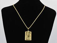 Herren-Kette mit Drache-Anhänger  Goldkette 24 Karat 999 Gold vergoldet 1049