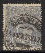 AUSTRALIA SG90 1926 3d DULL ULTRAMARINE W7 USED