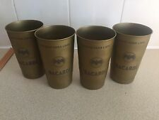 4 x BACARDI CUBA LIBRE METALLlC CUPS STILL IN THERE WRAPPING