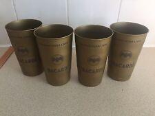 4 x BACARDI CUBA LIBRE METAL CUPS BRAND NEW