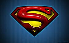 Superman Logo edible image party cake topper frosting sheet 8 x 10.5
